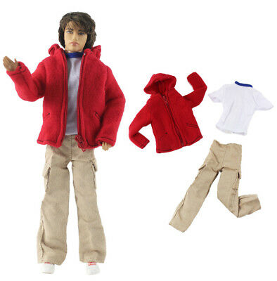 3 Pcs Set Dll Clothes/Outfit/Coat+vest+pants For 12 inch Ken Doll Clothes B52