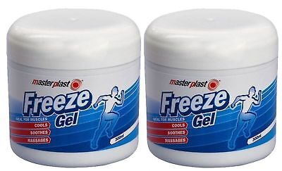 2 Pack New FREEZE GEL MUSCLES COOLS SOOTHES AND MASSAGES MASTERPLAST