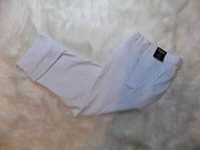 e0eff9e4147e7 New Simply Vera Wang Denim Capri Pants White Frost Women s 24W Plus - 48x26