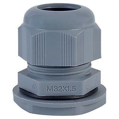 Alpha Wire PMC32 SL080 M32 Slate Dome IP68 Cable Gland Pck of 10
