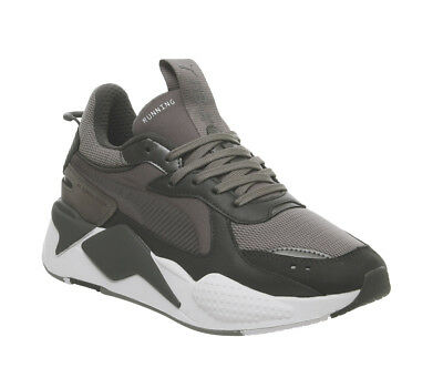 8d90537911f Womens Puma Rs-X Trophy Trainers Steel Grey Dark Shadow Trainers Shoes