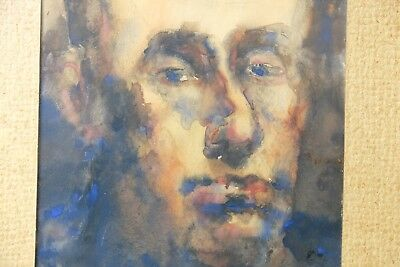 Antique Dutch Portrait from the early 1900's, Watercolor on paper Impressionist