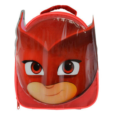 Official PJ Masks Owlette Face Shape Red Insulated Lunch Bag Box
