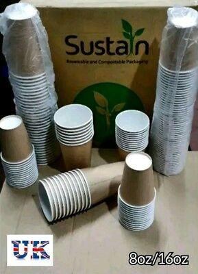 Paper Cups Party Tableware Events Catering Birthday Wedding  8/16oz Hot/cold