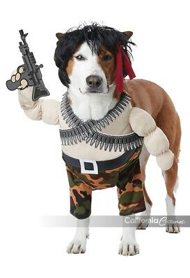 California Costumes Action Hero Rambo Animaux Domestiques Chiens Halloween