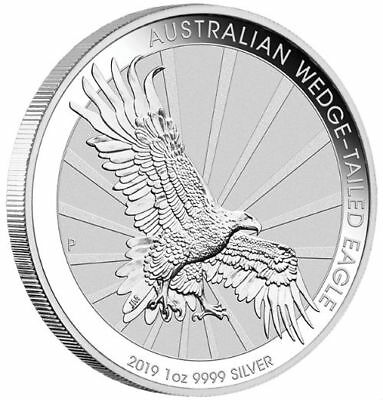 AUSTRALIA WEDGE TAILED EAGLE - 2019 1 oz BU Silver Coin in Capsule