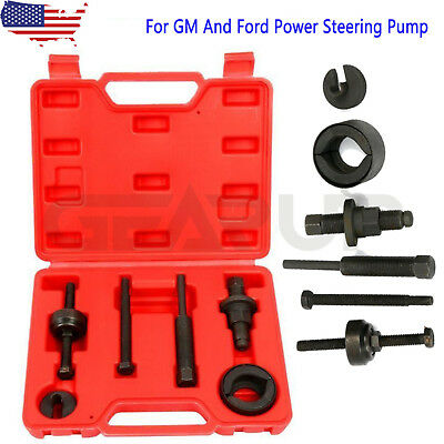 Power Steering Pump Pulley Kit For GM & Ford C111 C12 Remover/InstallationTool