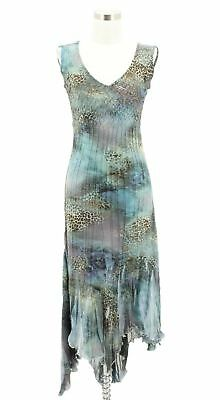 792ab22016f N439 NEW KOMAROV Designer Dress Size S Multi Color Asymmetrical Sundress