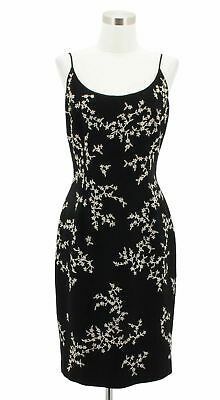 c49afb5eaacf A43 MAGGY LONDON Designer Dress Size 6 Small Black White Floral Sundress  Formal