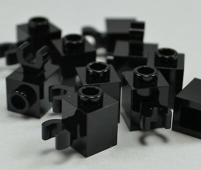 10 LEGO 1X1 DOT BLACK PLATES WITH TOOTH B163