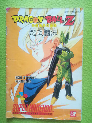 NOTICE DRAGON BALL Z (version FRA) pour le jeu SUPER NINTENDO SNES