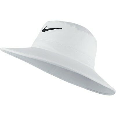 66a84520f71 NEW NIKE GOLF Sun Bucket Hat Black White Fitted S M Fitted Hat Cap ...