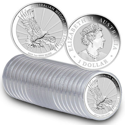 Roll of 20 2019 P Australia 1 oz Silver Wedge-Tailed Eagle $1 GEM BU SKU56947