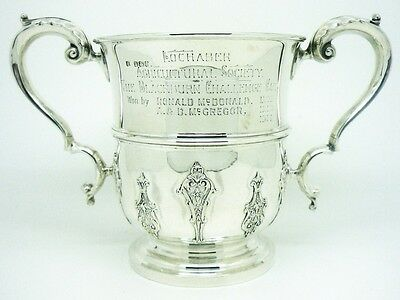 Antique Silver Trophy Cup, Sterling, Agricultural Prize, Hallmarked 1898