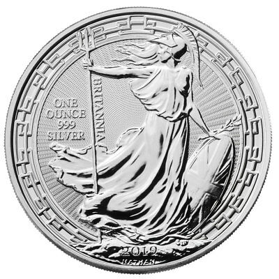 2019 Great Britain 1 oz Silver Britannia Oriental Border £2 Coin GEM BU SKU56992