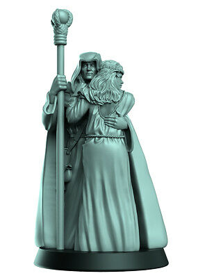 Raistlin & Crysania miniature Dragonlance 32mm Warhammer D&D Dungeons Pathfinder