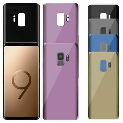 Genuine Rear Back Glass Battery Cover For Samsung Galaxy S9 & S9+ With Adhesive