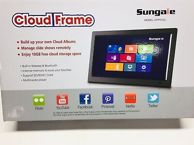 Sungale 14 Smart Wifi Cloud Digital Photo Frame Cpf1510 Real Time