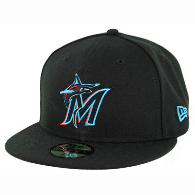 New Era 59Fifty Miami Marlins GAME Fitted Hat (Black) Men's MLB Cap