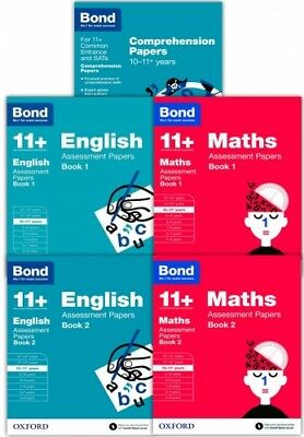 Bond Books, Bond 11+ plus Assessment Papers English Maths & Comp 10-11  years