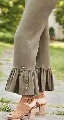Matilda Jane TREETOPS Big Ruffles S Small Olive New In Bag Pants Womens