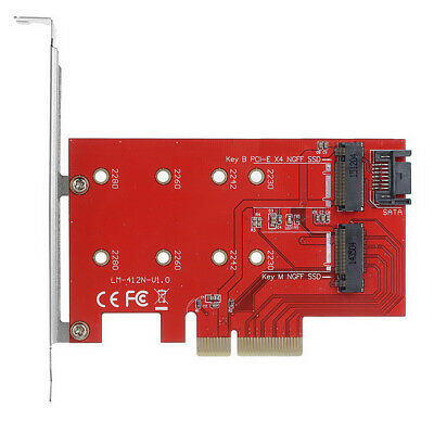 Xiwai PCI-E 3.0 x4 Adapter Converter Card for M.2 NGFF M-key SSD to Nvme