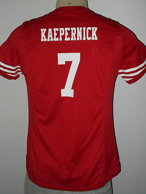 Nike Colin Kaepernick  7 San Francisco 49Ers Red Nfl Football Jersey Women  Large 16e2896dc