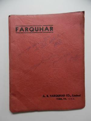 1938 A.B. Farquhar Iron Age Farm Tool Implement Dealer Binder Export Catalog BIG