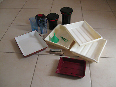 Vintage Photography equipment Developing trays, Developing Tanks  & Sundries