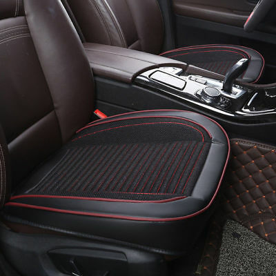 Black Universal PU Leather Car Single Seat Cover Protector Cushion Front Covers