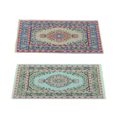 2P Miniature Floor Covering Turkish Style Rug for 1/12 Dolls House Accessory