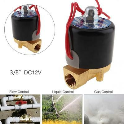 """12V DC Electric Solenoid Valve Water Air Gas Water 2 Way Normally Closed 3/8"""""""