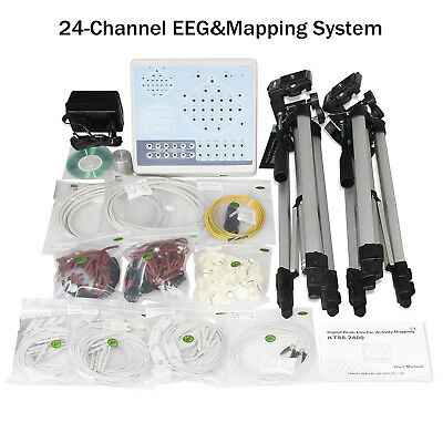 CE KT88-2400 24-channel EEG Machine & Mapping System,Software Analyze, 2 tripods