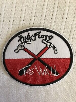"""3"""" Oval PINK FLOYD The Wall Iron On Embroidered Patch Free Shipping Roger Waters"""