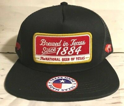 a976f38b5c5 HOOEY HAT TEXAS Made Lone Star Beer 1884 Patch Hat Black LS004 ...