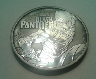 2018 Tuvalu marvel black panther  1oz silver coin , awesome black toning