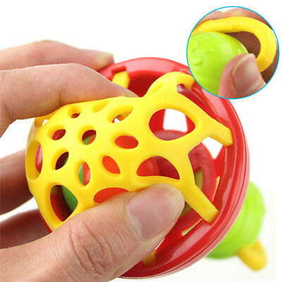 Healthy Baby Kids Rattles Biting Teething Teether Balls Soft Silicone Infant Toy