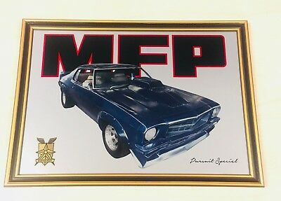Metal Mirror Artwork Of Mad Max Mfp Hq Coupe Pursuit Special Night Rider Picture