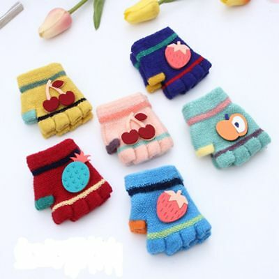 Exquisite Baby Gloves Kids Warm Half Finger Gloves Infants Baby Wool Mittens