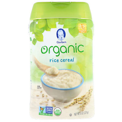 Gerber  Organic  Rice Cereal  Supported Sitter  8 oz  227 g
