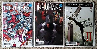 UNCANNY INHUMANS #11 set, all covers, PUTRI variant, 1st Mosaic, NM! UNREAD!