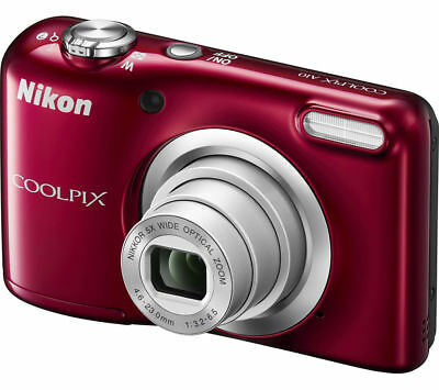 NIKON COOLPIX A10 Compact Camera - Red - Currys