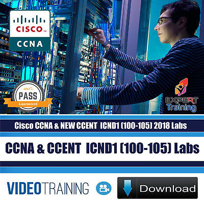 Cisco CCNA & NEW CCENT  ICND1 (100-105) 2018 Labs Video Training Course DOWNLOAD