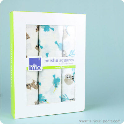 Bambino Mio Bamboo Muslin Squares | Super Soft Muslins for babies & great gift