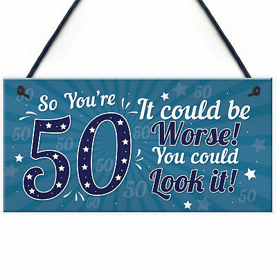 50th Birthday Gift For Men Presents Women Mum Dad Auntie