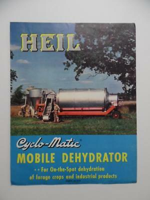 1947 Heil Cyclo-Matic Mobile Dehydrator Catalog Brochure Farm Crop Dryer Vintage