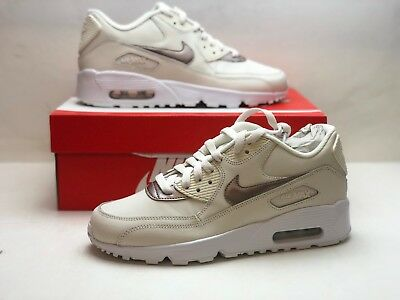 37a04c803c Nike Kids Air Max 90 LTR GS Phantom Gold Red Bronze White 833376-014 Size