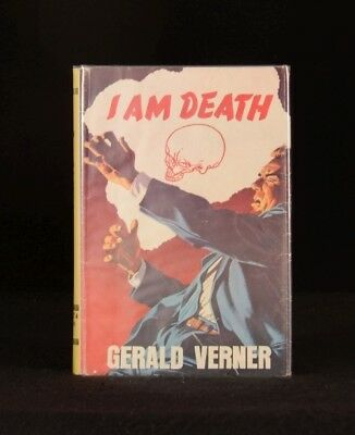 1963 I Am Death Gerald Verner First Edition with Dustwrapper
