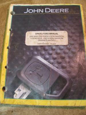 JOHN DEERE 7000 Max Emerge Planter Operators Manual OMA45509