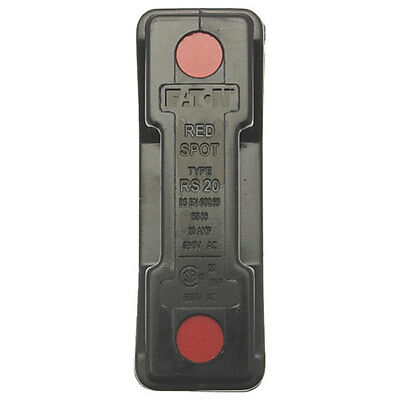 Bussmann RS20P-G 20A Back Stud Black Red Spot Fuse Holder